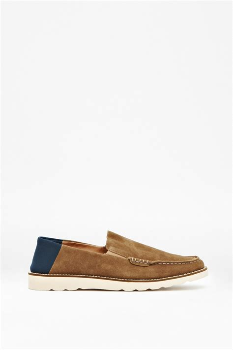 slip on suede loafers cain slip on suede loafers click and collect