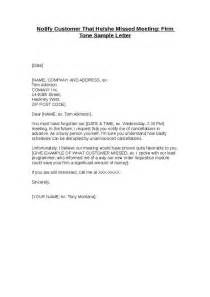 appointment letter for meeting with client notify customer that he she missed meeting firm tone