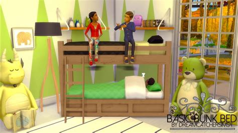 bunk beds for 4 basic bunk bed frame only at dreamcatchersims4 187 sims 4