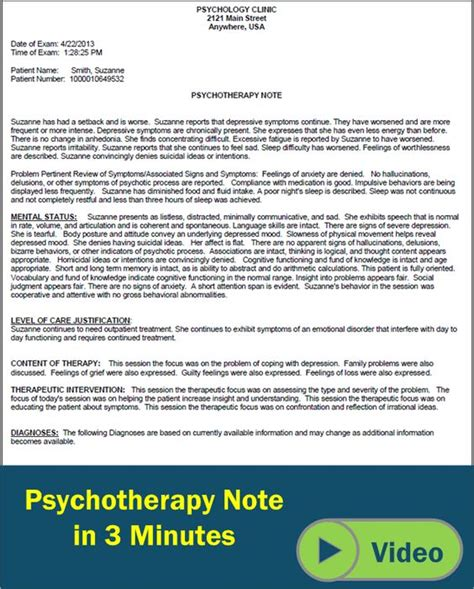psychology progress note template the world s catalog of ideas