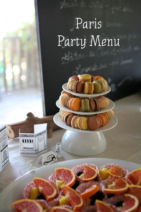 themes com menu paris party menu ideas my life at playtime