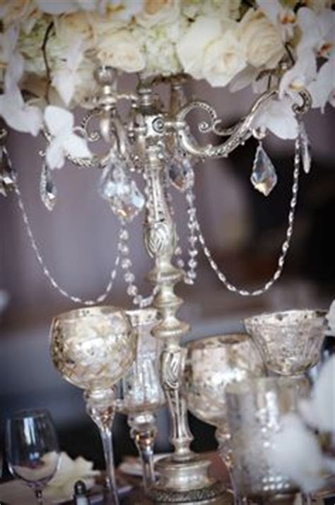 silver mercury table ls wedding decor on bling wedding