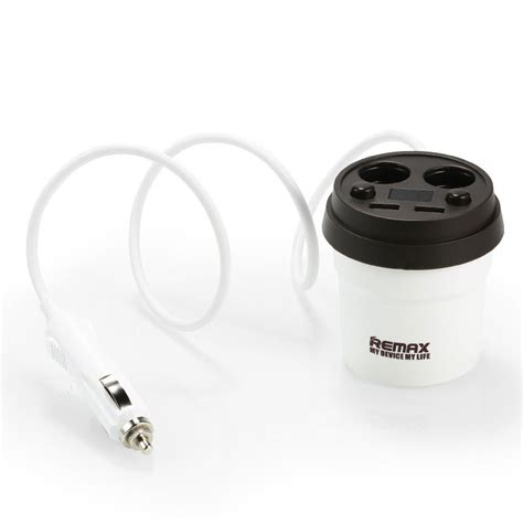 Remax Charger Mobil 2 Port Usb 2 Cigarette Cr 2xp Limited remax coffee cup cr 2xp car charger with dual usb ports dual cigarette lighters 3 1a white