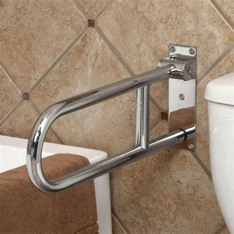 Bathroom Shower Grab Bars Pickens Flip Up Grab Bar With Position Hinge Grab Bars Bathroom Accessories Bathroom