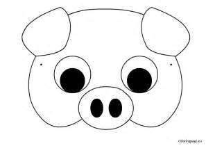 pig face coloring pages for kids cooloring com