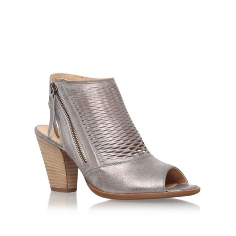 paul green shoes paul green rosie high heel shoe boots in metallic lyst
