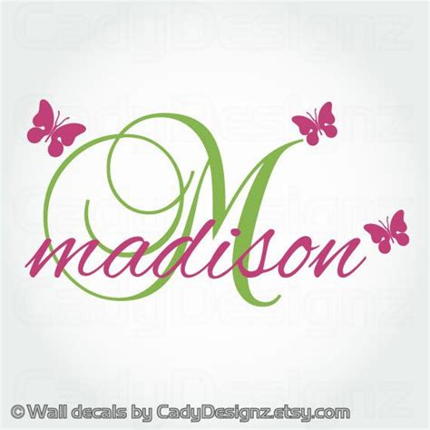 name wall decals personalized vinyl wall decal