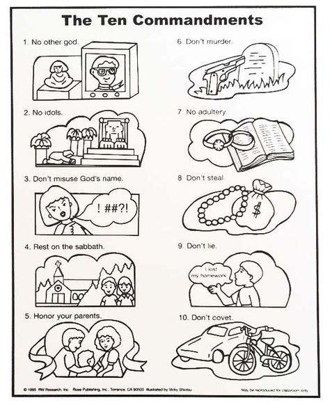 10 commandments coloring page 10 commandments coloring pages catholic children