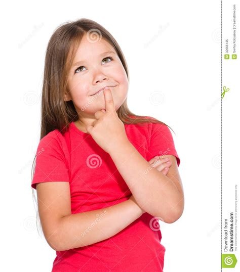 imagenes libres niños la ni 241 a est 225 pensando en algo foto de archivo libre de