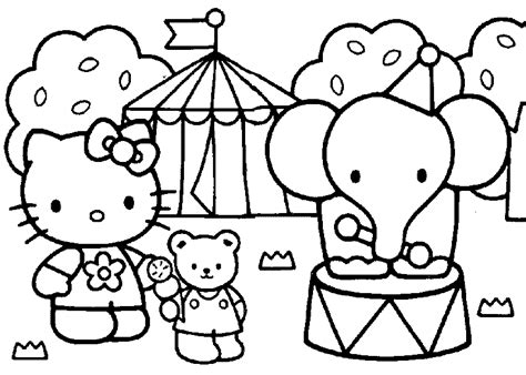hello kitty zoo coloring pages lonely roses رسومات هلو كيتي hello kitty للتلوين