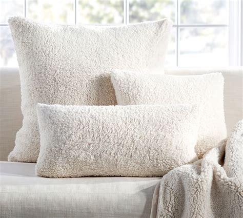 sheepskin throw for sofa faux sheepskin pillow cover pottery barn