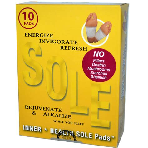 Sole Pads Detox by Sole Pads Detox 10 Pc 16 90ea From Inner Health