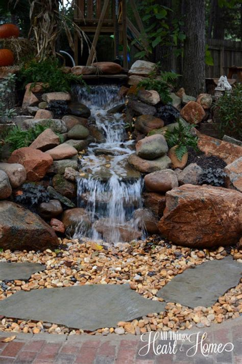 build backyard pond waterfall 30 diy garden pond waterfall for your back yard pond