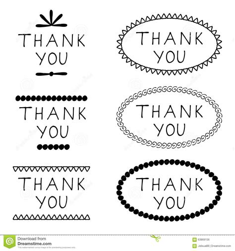 Thank You Letter Sign sticker thank you stock vector image 63869156
