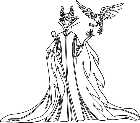 Disney Maleficent Coloring Pages