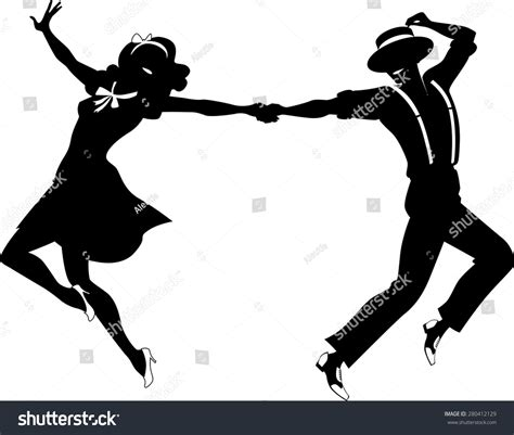 swing dance silhouette pics for gt swing dance clipart