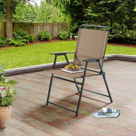 Sling Folding Chairs by Mainstays Pleasant Grove Sling Folding Chair