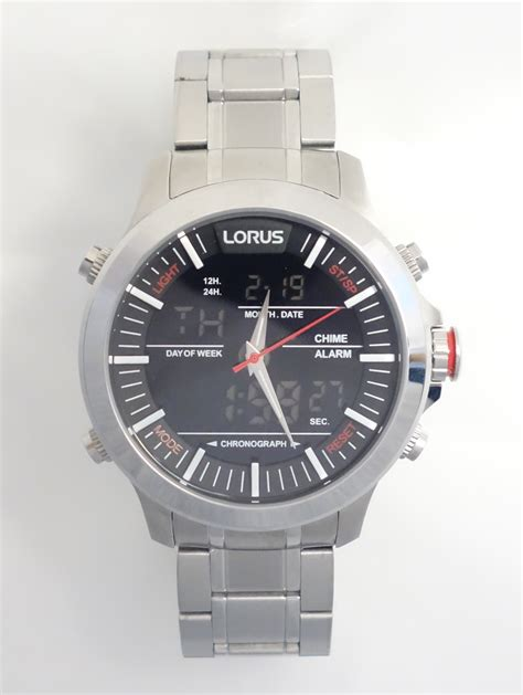 mens digital 100m chronograph lorus caellisar