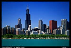 in color chicago picture photo chicago skyline morning chicago illinois