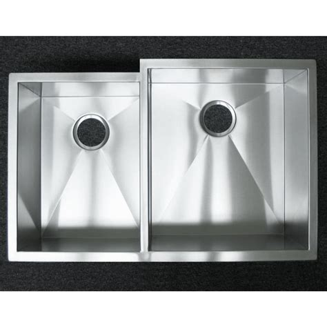 double bowl stainless steel sink 33 inch stainless steel undermount 40 60 offset double