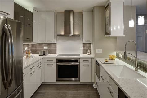 flat panel cabinet doors Kitchen Modern with 1 piece doors