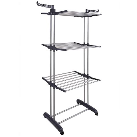 66 quot laundry clothes storage drying rack portable folding
