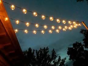 Patio string lights patio string lights properly installed on pole
