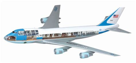 voli interni america american air one boeing 747 400 model do sklejania