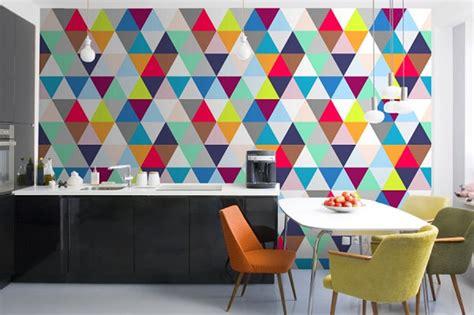 colorful wallpaper for kitchen geometria w kuchni halo domy pl