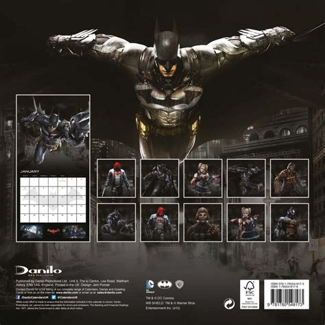 Calendar Arkham City Batman Arkham Calendars 2018 On Europosters