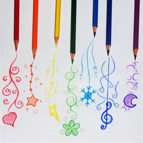 doodle pensil colored pencil doodles wallpaper illustration and