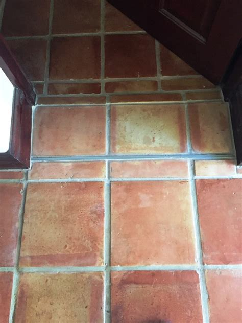 Cracked Mexican Terracotta Kitchen Tiles Restored in