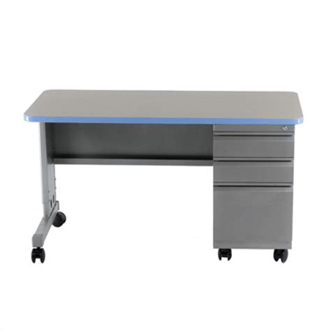 Cascade Teacher Desk Single Pedestal Smith System