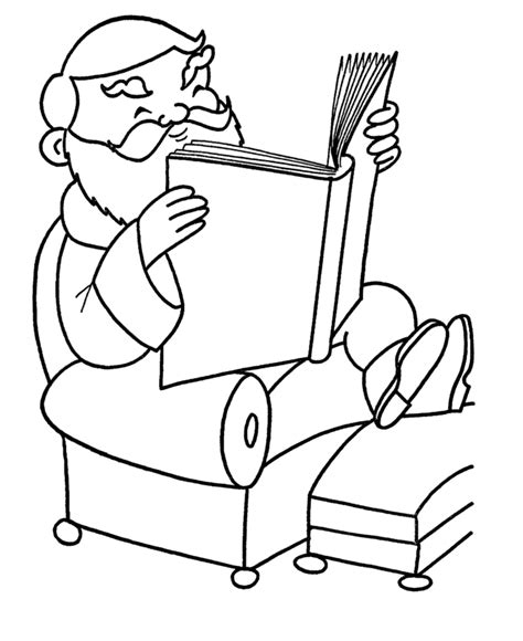Reading Book Coloring Page Coloring Home Book Colouring Page