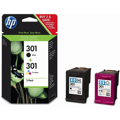 Tinta Printer Hp 802 Combo Pack Black Color genuine original hp 301 combo black colour ink for