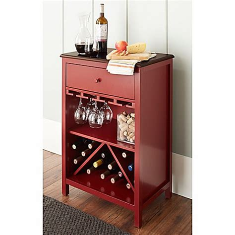 Chatham House Baldwin Wine Cabinet In Red Bed Bath Beyond