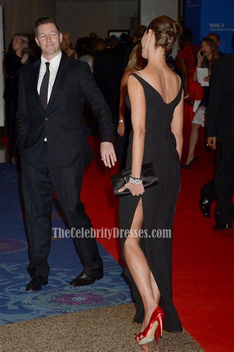 Christy Turlington Burns Black Evening Formal Dress 2016 White House Correspondents? Association