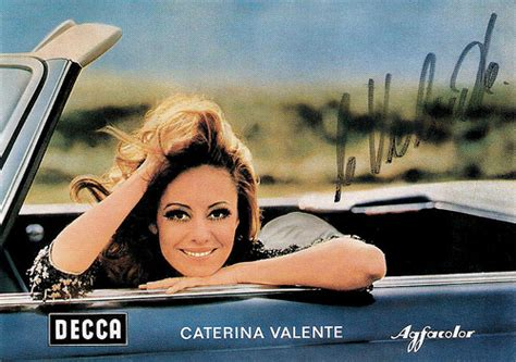 caterina valente lugano european film star postcards caterina valente