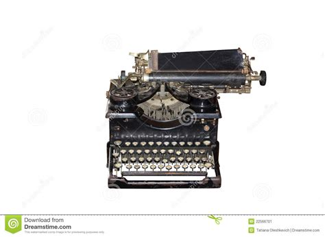 vintage typewriter isolated on stock image image