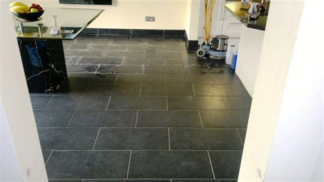 Kitchen With Black Slate Floor by Slate Cleaning Tile Doctor Hshire