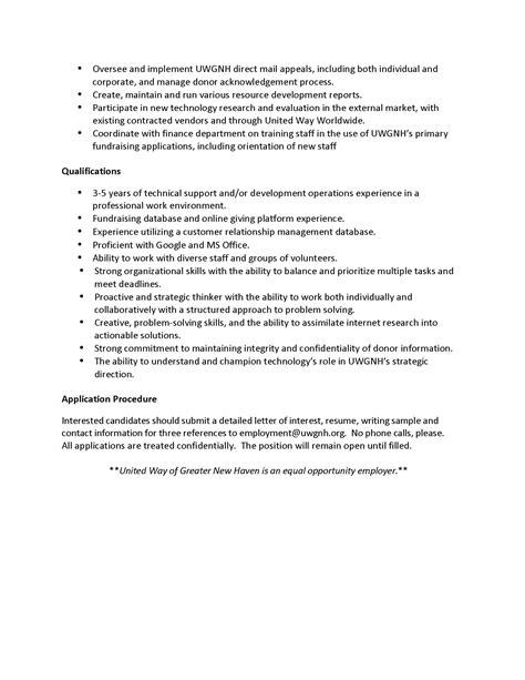 sle resume with description operation manager description www a ma us