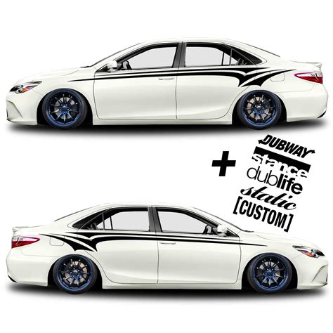 Auto Decal Kits by Car Graphic 333 Race Stripe Free Decals Shine Graffix