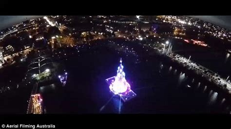 cost to have christmas lights put up geelong s 1 million floating christmas tree lights up the