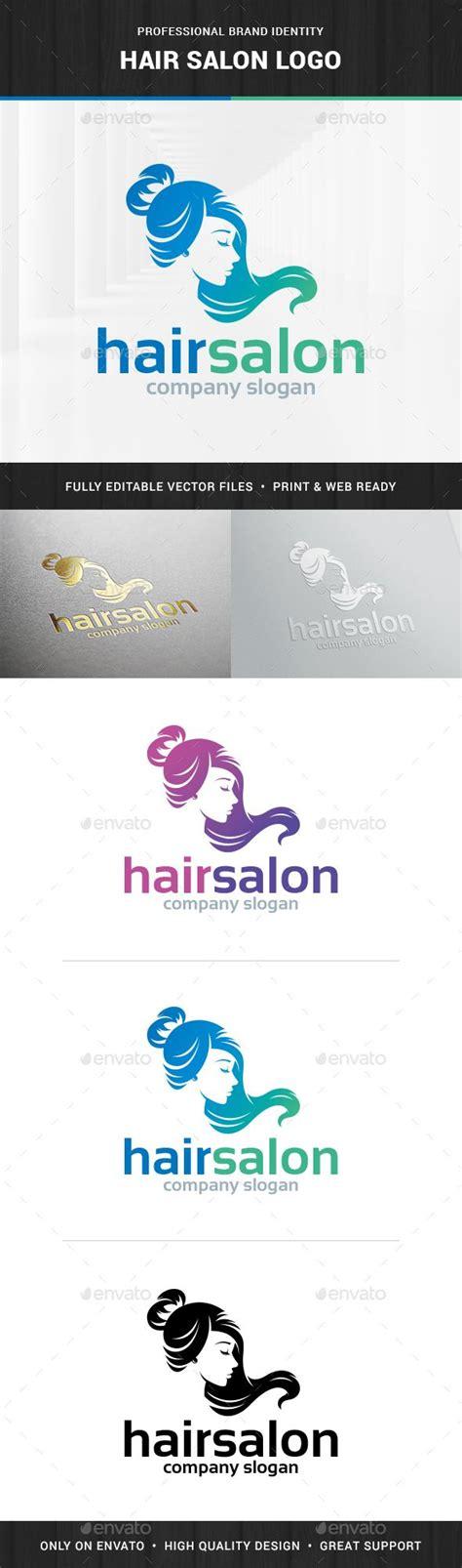 elegant logo design photoshop hair salon female logo salons logo templates and logos