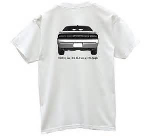 Dodge Challenger Shirts Dodge Challenger R T Spec Tshirt Back