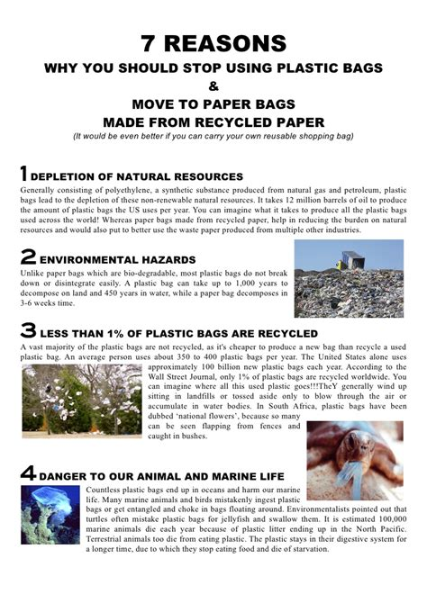 7 Reasons To by 7 Reasons To Stop Using Plastic Bags And Switch To Paper Bags