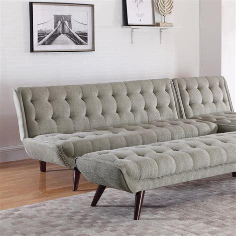 futon living room coaster 505608 mid century modern futon dunk
