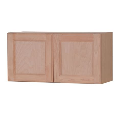 kitchen wall cabinets unfinished shop style selections 30 in w x 15 in h x 12 6 in d