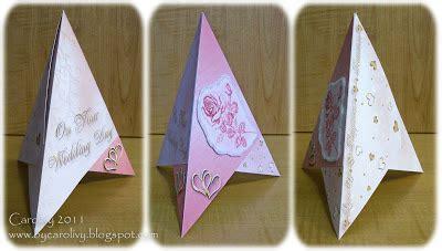 by carolivy new tri fold pyramid cards