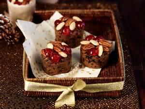 mini christmas cake muffins with rum saga